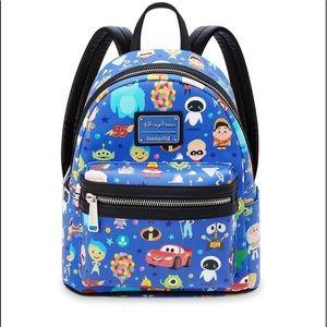 NWT Disney lounge fly world of Pixar mini backpack